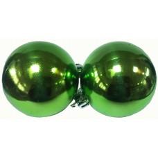 17026.2 К-кт Коледни топки зелени 6 бр Ф 6 см