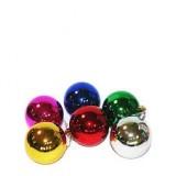17026.3 К-кт Коледни топки червени 6 бр Ф 6 см