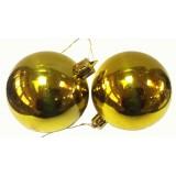 17027.1 К-кт Коледни топки златисти 6 бр Ф 5 см