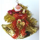 17053 Дядо Коледа с камбани за стена 12/12 см