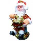 17075 Дядо Коледа на барабан музикален 20 см