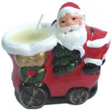 17083.1 Свещник с Дядо Коледа 7 см