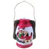 17086.2 Светещ фенер с Дядо Коледа 17 см