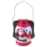 17086.4 Светещ фенер с Дядо Коледа 17 см