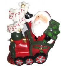 17090 Дядо Коледа на влак светещ 20/16 см