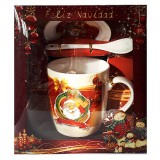 17115.1 Комплект чаша с чиния и лъжичка в луксозна кутия 10 см, Ф 8 см