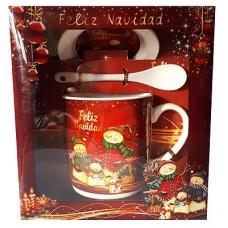 17115.3 Комплект чаша с чиния и лъжичка в луксозна кутия 10 см, Ф 8 см