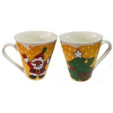 17117.1 Коледна чаша с Дядо Коледа и елха 10 см, Ф 8 см