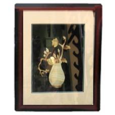 18023 Картина ваза с цвете 35/48 см