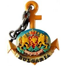 19027 Магнит котва с герб 9 см