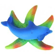 19046 Магнит морска звезда с делфин 7.5 см