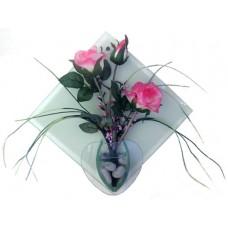 21074 Изкуствени цветя за стена 30/30 см