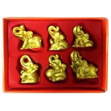 23127 Кутия със слончета фън шуй 6 бр.