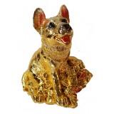 23149.1 Куче с жаба касичка 13 см