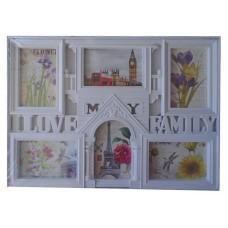 25002.1 Рамка Love my Family за 6 снимки 35/50 см