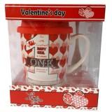 25026.3 Комплект чаша със силиконов капак и лъжичка в луксозна кутия 10 см, Ф 8 см