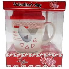 25026.8 Комплект чаша със силиконов капак и лъжичка в луксозна кутия 10 см, Ф 8 см