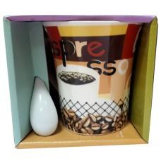 25037.10 Чаша с лъжичка 10 см, Ф 8 см