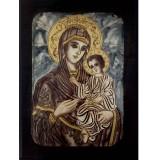 9105 Ръчно рисувана Икона с Пресвета Богородица 26/36 см