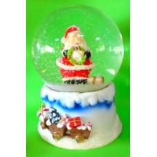 17066.4 Преспапие с Дядо Коледа Н 14 см/Ф 10 см