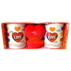 10073.1 Двойка чаши със сърце. Чаша - Н 10 см / Ф 8 см