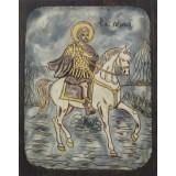 082.5 Ръчно рисувана Икона със Св. Мина 21/31 см