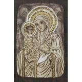086.3 Ръчно рисувана Икона с Пресвета Богородица 14/20 см