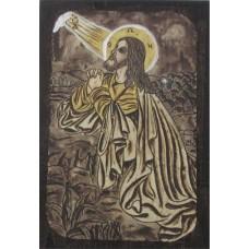 086.8 Ръчно рисувана Икона с Иисус Христос 14/20 см