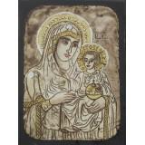 084.13 Ръчно рисувана Икона с Пресвета Богородица 12/16 см