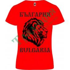 118.2 Червена  тениска с лъв и надпис България